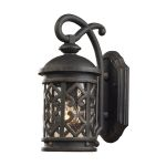 "Tuscany Coast Collection 1-Light 14"" Weathered Charcoal Outdoor Wall Lantern with Clear Seeded Glass 42060/1"