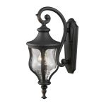 "Grand Aisle Collection 1-Light 23"" Weathered Charcoal Outdoor Wall Lantern with Water Glass 42250/1"