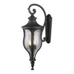 "Grand Aisle Collection 4-Light 35"" Weathered Charcoal Outdoor Wall Lantern with Water Glass 42252/4"