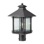 "Blackwell Collection 1-Light 18"" Graphite Outdoor Post Lantern with Clear Seedy Glass 42304/1"