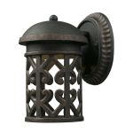 "Tuscany Coast Collection 1-Light 9"" Weathered Charcoal LED Dark Sky Outdoor Wall Lantern 42365/1"