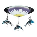 Kid's Lighting Novelty Collection 2-Light 16'' Dolphin Flushmount Ceiling Light 5087/2 SKU# 452699