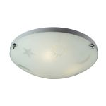 Kid's Lighting Novelty Collection 3-Light 16'' Night Sky Flushmount Ceiling Light 5088/3