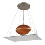 Kid's Lighting Novelty Collection 1-Light 21'' Football Field Hanging Pendant 5136/1