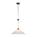 "Elysburg Collection 1-Light 16"" Satin Nickel Pendant with White Marbleized Glass 6500/1"