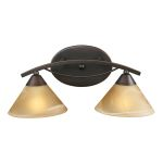 "Elysburg Collection 2-Light 18"" Aged Bronze Bathroom Vanity Fixture with Tea Stained Brown Swirl Glass 7641/2"