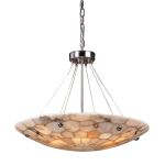 "Spanish Mosaic Collection 6-Light 24"" Hand Assembled Alabaster Mosaic Pendant 8851/6"