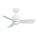 "Tilo Collection 30"" Appliance White Ceiling Fan with Appliance White Blades CF130WW"
