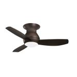 "Curva Sky Collection 44"" Oil Rubbed Bronze Ceiling Fan with All-Weather Oil Rubbed Bronze Blades and Opal Matte Light Kit CF144ORB"