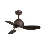 "Curva Collection 44"" Oil Rubbed Bronze Ceiling Fan with All-Weather Oil Rubbed Bronze Blades and Opal Matte Light Kit CF244ORB"