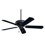 "Devonshire Collection 52"" Barbeque Black Ceiling Fan with All Weather Aged Oak Blades CF670BQ"