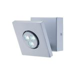 "Zella Collection 1-Light 6"" Silver LED Wall Lamp LS-16101"