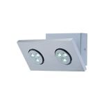 "Zella Collection 2-Light (sets) 9"" Silver LED Wall Lamp LS-16102"