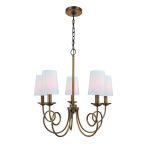 "Erika Collection 22"" 5-Light Antique Copper Chandelier LS-19815"