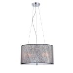 "Lola II Collection 3-Light 18"" Drum Shaded Pendant LS-19842"