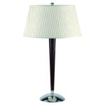 "Stratford Collection 1-Light 29"" Cherry Wood Table Lamp with Off-White Fabric Shade LS-2010"