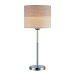 "Relaxar Collection 1-Light 20"" Polished Steel Table Lamp LS-20750"