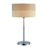 "Relaxar Collection 1-Light 26"" Polished Steel Table Lamp LS-20751"