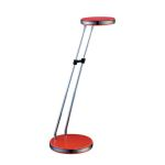 "Neoka Collection 18-Light 16"" Orange LED Desk Lamp with Telescopic Metal Arms"