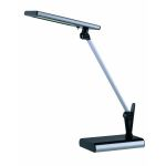 "Technika Collection 18-Light 20"" Black LED Desk Lamp with Adjustable Silver Arm LS-21253"
