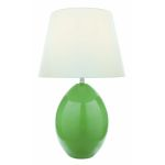 "Koen Collection 1-Light 23"" Light Green Ceramic Table Lamp with Off-White Fabric Shade LS-21507L/GRN"