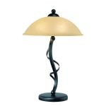 "Wavia Collection 3-light 24"" Antique Gold Bronze Table Lamp with Light Amber Glass Shades LS-21571"