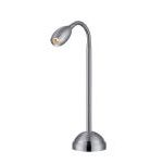 "Saskia Collection 15"" 1-Light Aluminum Desk Lamp LS-21804ALU"