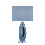 "Nakia Collection 19"" 1-Light Light Blue Table Lamp LS-21860L/BLU"