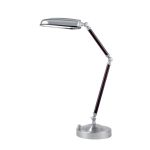 "Nuncio Collection 26"" 1-Light Cherry Wood / Polished Steel Desk Lamp LS-21922"