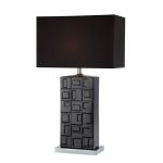 "Keytouch Collection 28"" Black Ceramic Table Lamp LS-21978BLK"