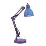 "Karsten Collection 21"" 1-Light Blue Desk Lamp LS-22110BLU"