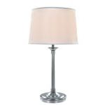 "Newton Collection 30"" 1-Light Polished Steel Table Lamp LS-22193"