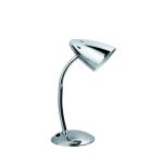 "Bullet II Collection 1-Light 16"" Adjustable Chrome Metal Desk Lamp with Gooseneck LS-2602 C"