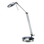 "Futura Collection 1-Light 26"" Polished Steel Desk Lamp with All Metal Shade LS-3896"