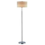 "Relaxar Collection 1-Light 60.5"" Polished Steel Floor Lamp LS-80751"