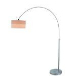 "Relaxar Collection 1-Light 80"" Polished Steel Arch Floor Lamp LS-80752"