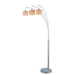 "Relaxar Collection 3-Light 85"" Polished Steel Arch Floor Lamp LS-80753"