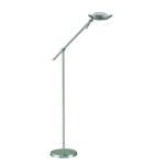 Module II Collection Polished Steel Floor Lamp with Frost Glass Diffuser LS-80978 PS