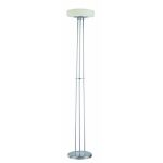 "Honoria Collection 1-Light 73"" Polished Steel Floor Lamp with Frosted Glass Shade LS-81485"