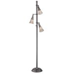 "Mercede Collection 68"" 3-Light Antique Copper Floor Lamp LS-81942"