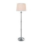 "Newton Collection 59"" 1-Light Polished Steel Floor Lamp LS-82193"