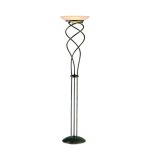 "Helix II Collection 73"" 2-Light Rusted Gold Torchiere Lamp LS-8995R/GOLD"