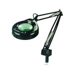 "Mag-Lite Collection 1-Light 41"" Black Metal 5-Diopter Magnifier Lamp with Black Shade LSM-181 BLK"