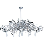 "Tempest Collection 9-Light 17"" Polished Nickel Chandelier with Clear Glass 39847PN"