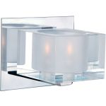 "Cubic Collection 1-Light 5"" Polished Chrome Vanity with Clear Glass 10001CLPC"