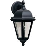 "Westlake Collection 1-Light 15"" Black Outdoor Wall Light with Clear Glass 1000BK"