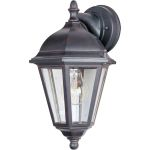 "Westlake Collection 1-Light 15"" Empire Bronze Outdoor Wall Light with Clear Glass 1000EB"