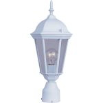 "Westlake Collection 1-Light 19"" White Outdoor Pier/Post Mount with Clear Glass 1001WT"