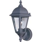 "Westlake Collection 1-Light 15"" Black Outdoor Wall Light with Clear Glass 1002BK"