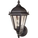 "Westlake Collection 1-Light 15"" Empire Bronze Outdoor Wall Light with Clear Glass 1002EB"